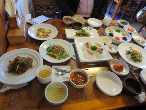 韓国料理と桜_b0100062_2214646.jpg