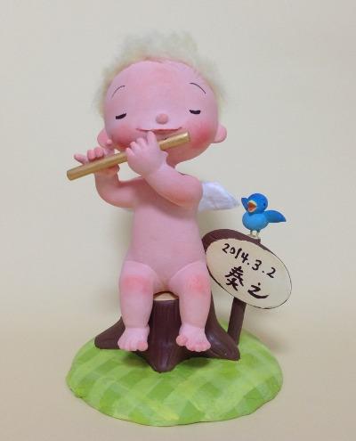 新作 赤ちゃんが生まれたお祝いの人形_f0072976_1037337.jpg