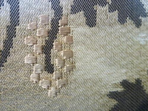 勝山健史夏帯 シュテーデルの聖母   <工芸帯地洛風林の帯>_d0159384_1384191.jpg