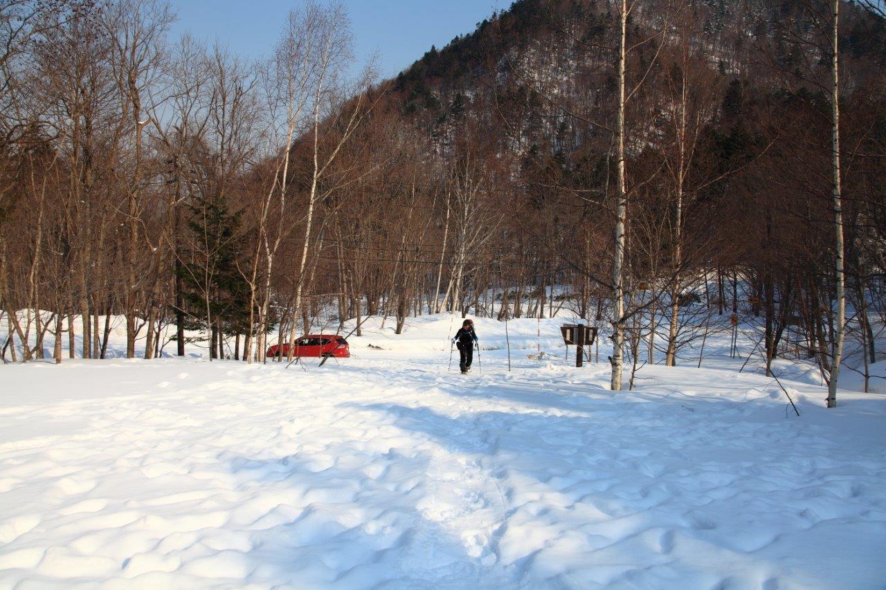 4月7日、札幌岳-同行者からの写真-_f0138096_9462455.jpg