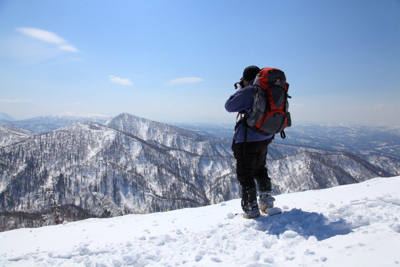 4月7日、札幌岳-同行者からの写真-_f0138096_9473414.jpg