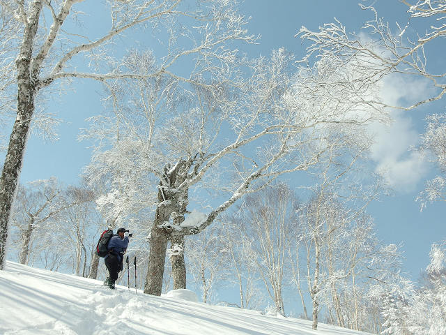 4月7日、札幌岳-同行者からの写真-_f0138096_948137.jpg