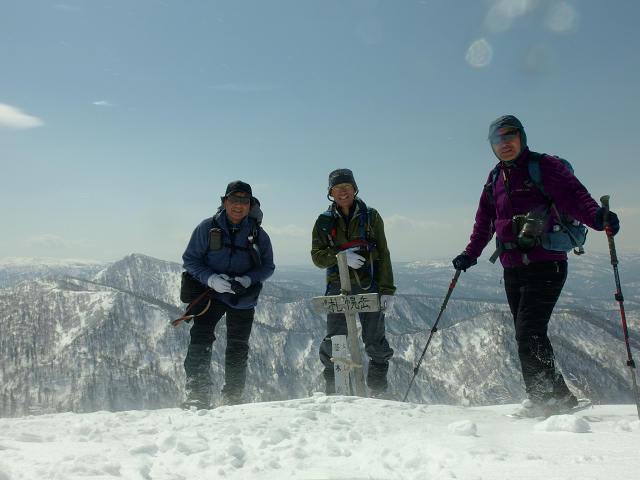 4月7日、札幌岳-同行者からの写真-_f0138096_9481443.jpg