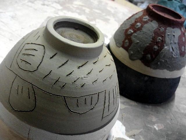 タコ茶碗とおさかな茶碗_f0292806_20013790.jpg