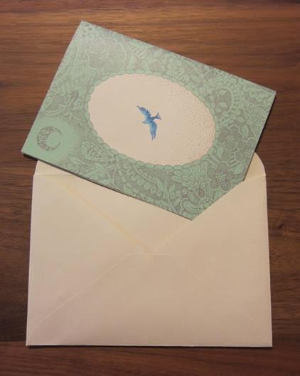 Loopmark「青い鳥レターセット」が完成いたしました。_f0228652_1721871.jpg