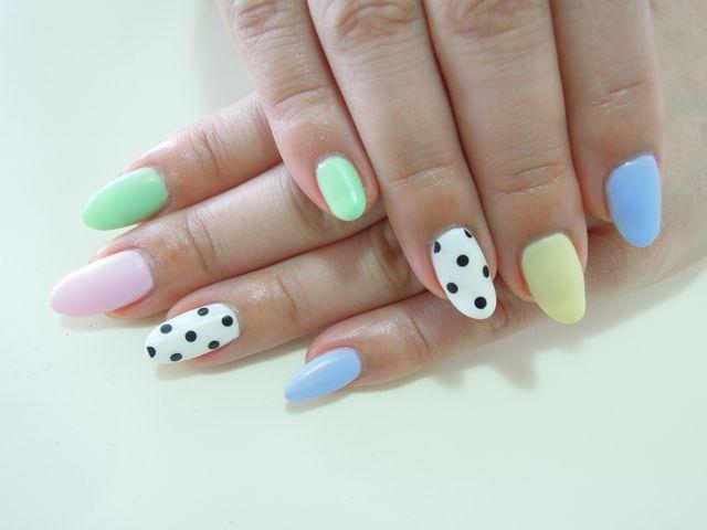 Colorful Dots Nail_a0239065_12561190.jpg