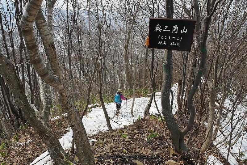 4月9日、三角山から奥三角山_f0138096_10113873.jpg