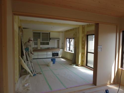 完全分離2世帯リフォーム-親世帯キッチン取付け、もうすぐ完成。_b0118287_12544680.jpg