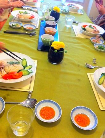 料理教室・・・シンガポール料理「海南チキンライスなど♪」_f0141419_08243363.jpg