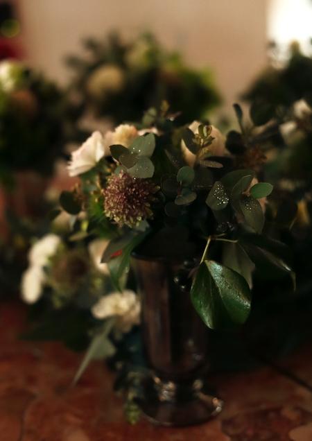 緑の卓上装花 シェ松尾松濤レストラン様へ_a0042928_22221185.jpg
