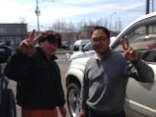 4月13日キャデラック☆アルファード☆レクサスRX 3台ご成約~!!★ランクル _b0127002_2114340.jpg