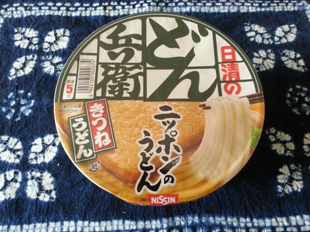 日清食品  どん兵衛きつねうどん西日本¥138_b0042308_23371948.jpg