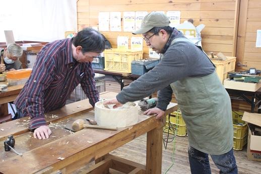 木彫りの器講座終了しました。_f0227395_14485577.jpg