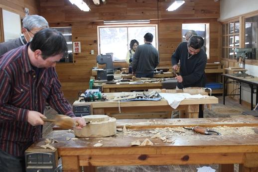 木彫りの器講座終了しました。_f0227395_1448867.jpg
