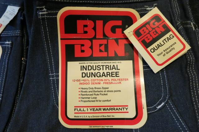 アメリカ仕入れ情報#35 デッドストック 80'S BIG BEN ペインターパンツ!_c0144020_1034090.jpg