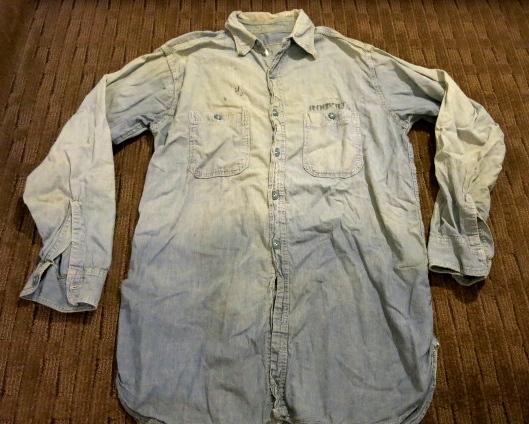 アメリカ仕入れ情報#42 WWⅡ U.S NAVY  ステンシル入り シャンブレーシャツ!_c0144020_1281747.jpg