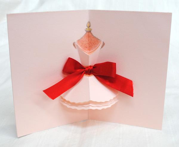 ドレスのカードを手作り_d0225198_13301618.jpg
