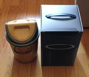 黒い小さなゴミ箱がやっと届いた!_b0194208_10322381.jpg