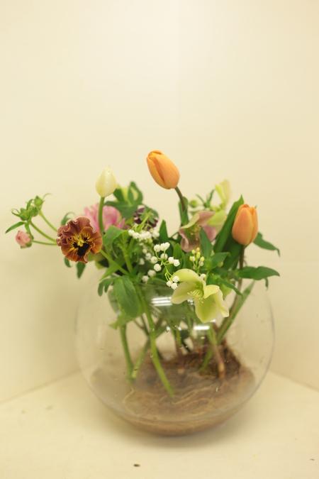 定期レッスン3月 春の花木の花瓶活け前篇 複数の花から枝ものまで_a0042928_16172652.jpg