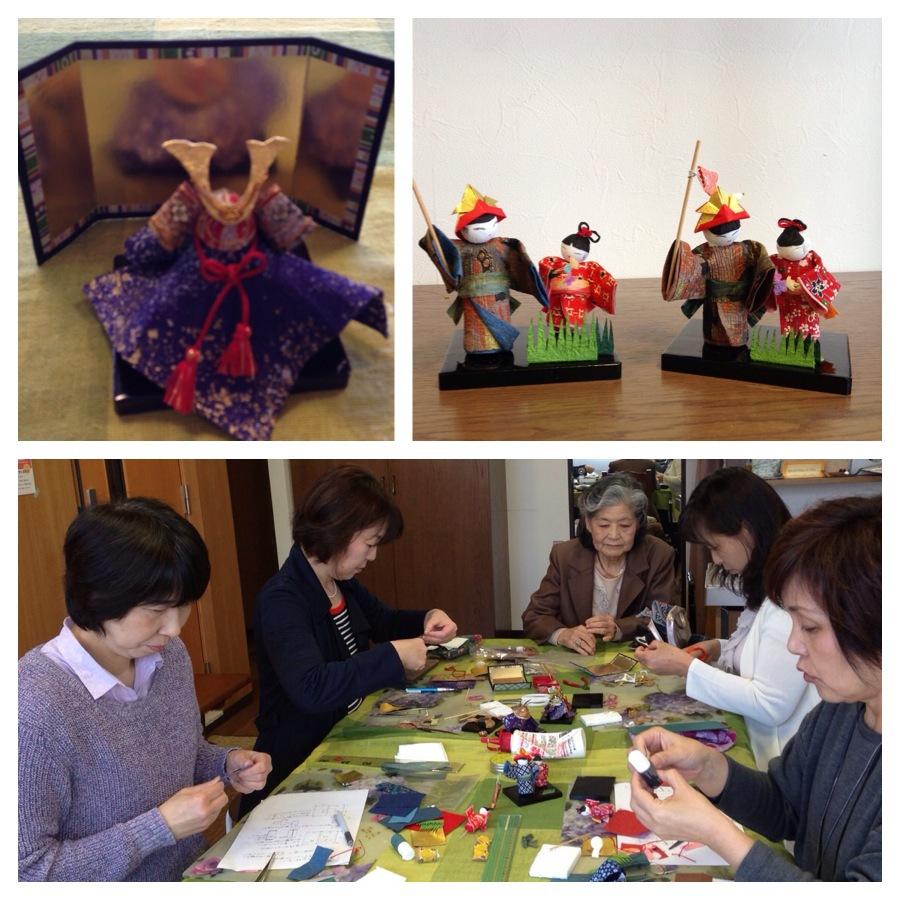 和紙人形作り教室、趣のある和紙人形の表情が素敵です_f0180576_9164336.jpg