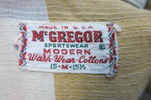 アメリカ仕入れ情報#51 60\'S  マクレガー shirts! _c0144020_1213064.jpg