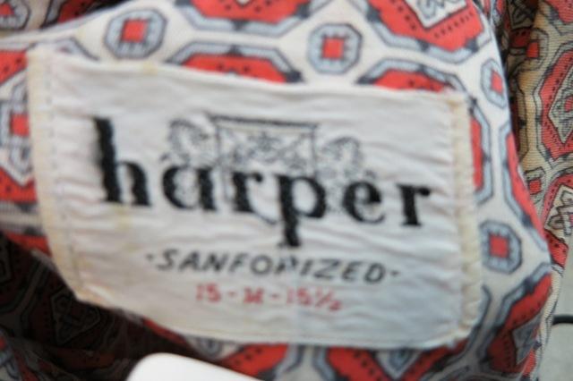 アメリカ仕入れ情報#52 50\'s ~ Harper shirts!_c0144020_12272327.jpg