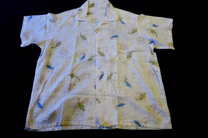 アメリカ仕入れ情報#54 50\'S  FISHI 柄  オープンカラーcotton shirts!_c0144020_12383374.jpg