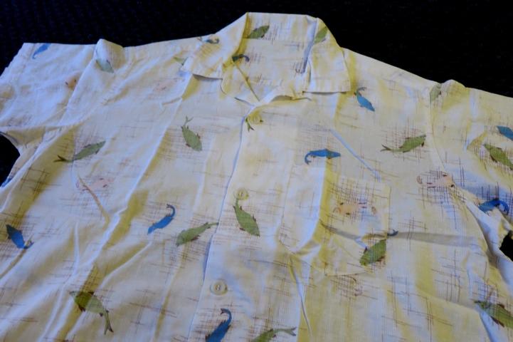 アメリカ仕入れ情報#54 50\'S  FISHI 柄  オープンカラーcotton shirts!_c0144020_12384118.jpg