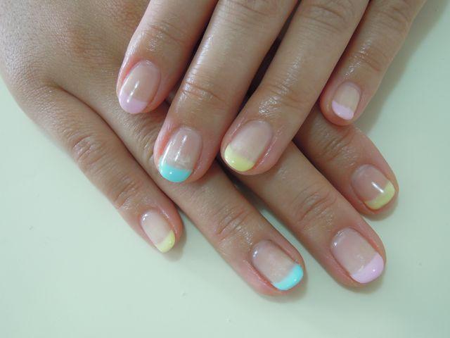 Pastel French Nail_a0239065_20363243.jpg