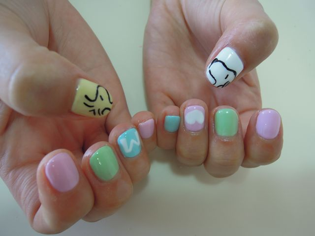Snoopy Nail_a0239065_20422780.jpg