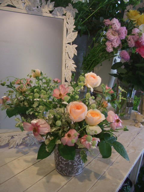 オークリーフ花の教室(長尾さんと出口さんの作品)_f0049672_17115497.jpg