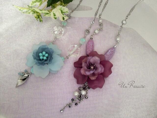 「花びら」を集めて~ネックレス_a0142642_1084276.jpg