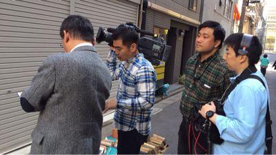 平成26年4月15日  TBS 報道特集 神保町店頭にてロケ。_a0154482_18283291.jpg