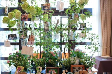 春の装花 緑に 花を添える機会 ルヴェソンヴェール駒場さまへ_a0042928_20515178.jpg