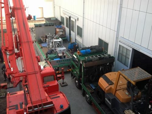 鋳造機搬入。_e0045139_18541898.jpg