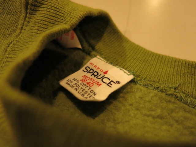 """VINTAGE SWEAT COLLECTION ー60\'S mayo SPRUCEー \""ってこんなこと。_c0140560_11242278.jpg"