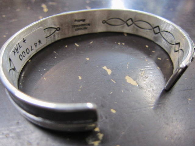 Michael Roanhorse  etc.. TOP ARTIST モノ SILVER BANGLE!★!_d0152280_14314674.jpg