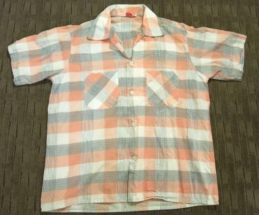 アメリカ仕入れ情報#61 50'S グレー&ピンク コットンシャツ!_c0144020_8401594.jpg
