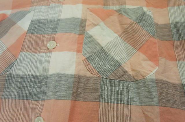 アメリカ仕入れ情報#61 50'S グレー&ピンク コットンシャツ!_c0144020_8402639.jpg