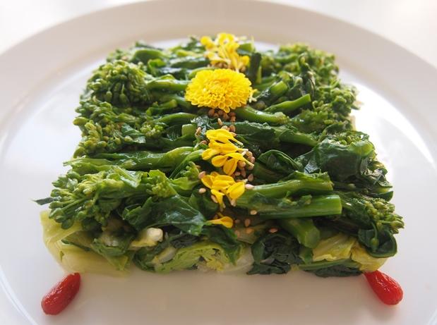 菜の花とキャベツのにんにく和え_e0148373_15184586.jpg