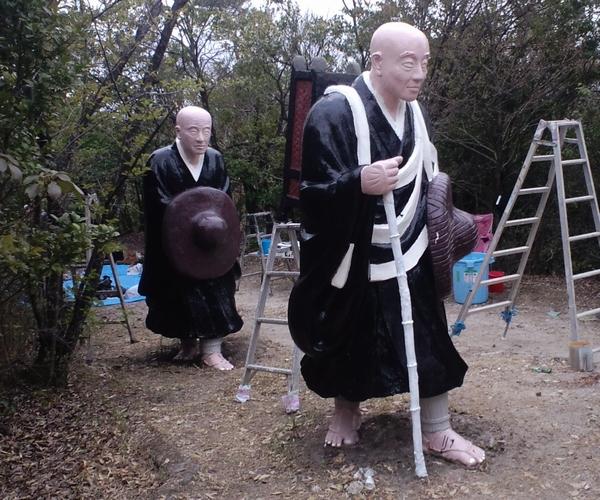 浅野祥雲作品 五色園第8次修復活動に参加してきました_e0050489_2231543.jpg