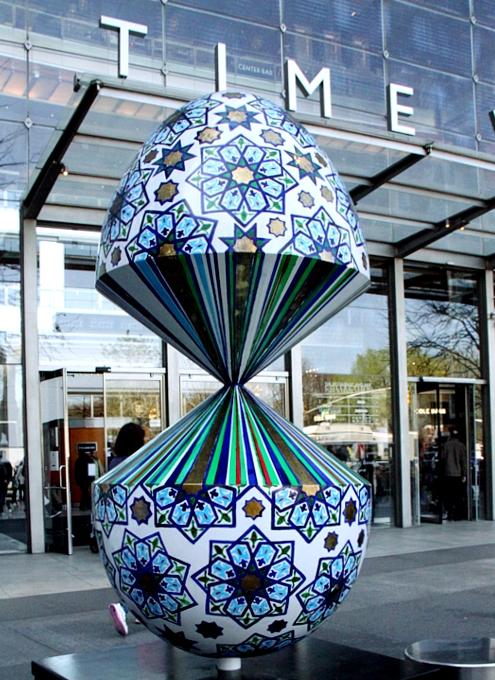 NYの街中で卵型アートのエッグハント、The Fabergé Big Egg Hunt_b0007805_14141374.jpg