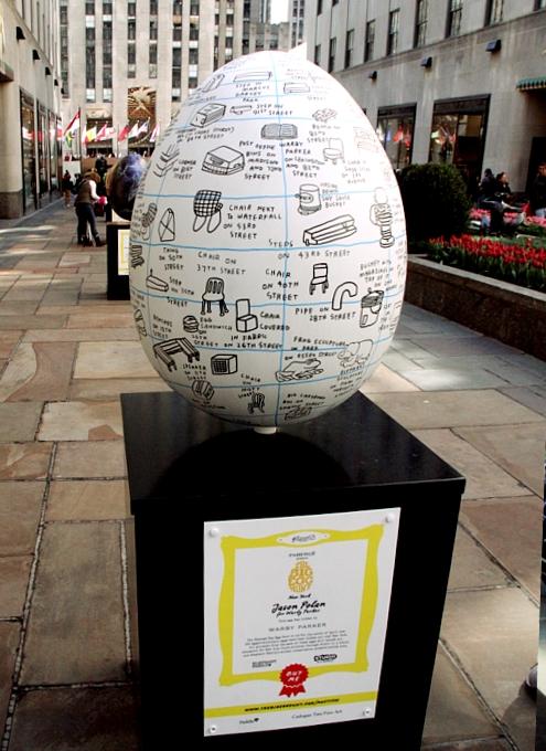 NYの街中で卵型アートのエッグハント、The Fabergé Big Egg Hunt_b0007805_14163531.jpg