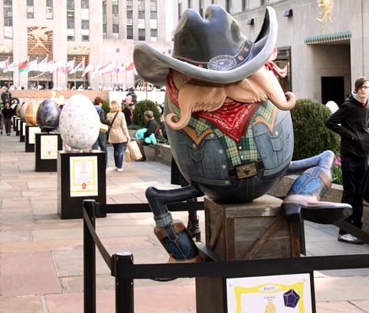NYの街中で卵型アートのエッグハント、The Fabergé Big Egg Hunt_b0007805_14171684.jpg