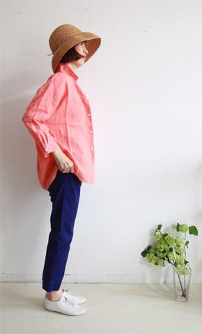 コーラルオレンジのシャツ_f0215708_12544996.jpg