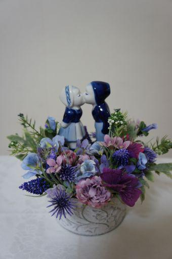 フェイクのお花でリメイク_f0155431_2214144.jpg
