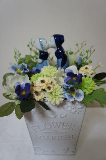 フェイクのお花でリメイク_f0155431_22144114.jpg