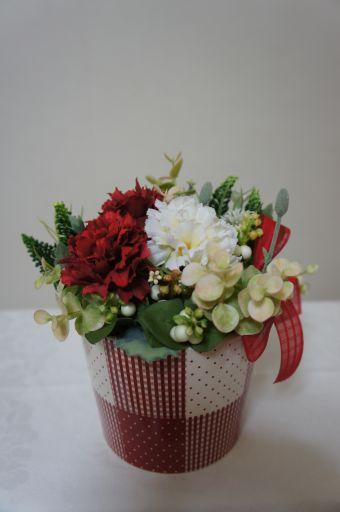 フェイクのお花でリメイク_f0155431_22151767.jpg