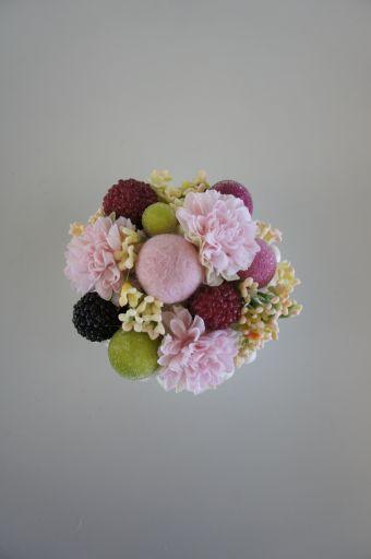 フェイクのお花でリメイク_f0155431_22204370.jpg