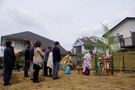 横浜で地鎮祭です_c0130172_14492326.jpg